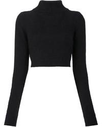 schwarzer kurzer Pullover von Balmain
