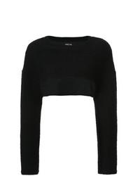 schwarzer kurzer Pullover von Cushnie