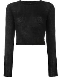 schwarzer kurzer Pullover von Forte Forte
