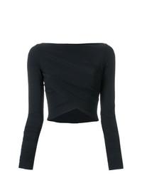 schwarzer kurzer Pullover von Lost & Found Ria Dunn