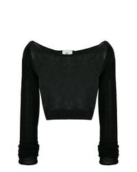 schwarzer kurzer Pullover von Lost & Found Rooms