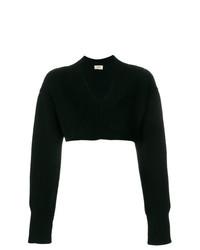 schwarzer kurzer Pullover von Ports 1961