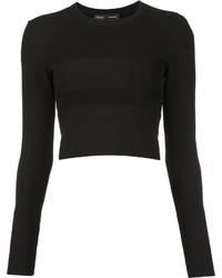schwarzer kurzer Pullover von Proenza Schouler