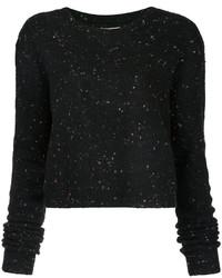 schwarzer kurzer Pullover von Public School