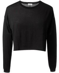 schwarzer kurzer Pullover von Saint Laurent