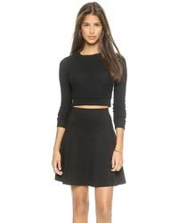 schwarzer kurzer Pullover von Three Dots