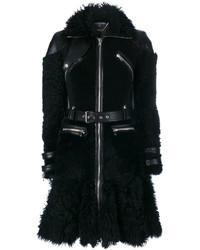 schwarzer Lammfellmantel von Alexander McQueen