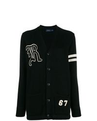 schwarzer lange Strickjacke von Polo Ralph Lauren