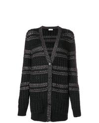 schwarzer lange Strickjacke von Saint Laurent