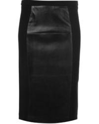 schwarzer Leder Bleistiftrock von MICHAEL Michael Kors