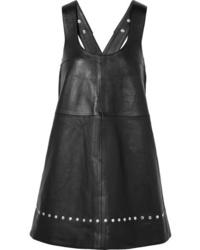 schwarzer Leder Kleiderrock von ALEXACHUNG