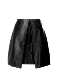 schwarzer Leder Minirock von Aalto