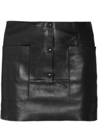schwarzer Leder Minirock von Acne Studios