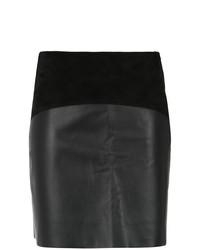 schwarzer Leder Minirock von Egrey
