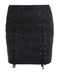 schwarzer Leder Minirock von Glamorous Curve