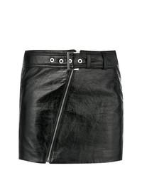 schwarzer Leder Minirock von Manokhi