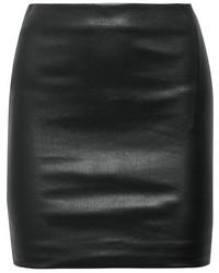 Schwarzer Leder Minirock von The Row