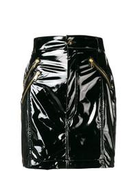schwarzer Leder Minirock von Versace Jeans