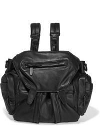 schwarzer Leder Rucksack von Alexander Wang