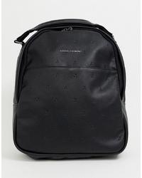 schwarzer Leder Rucksack von Armani Exchange