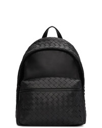 schwarzer Leder Rucksack von Bottega Veneta