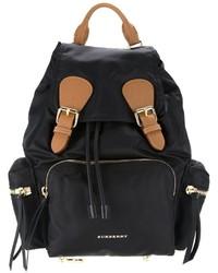 schwarzer Leder Rucksack von Burberry