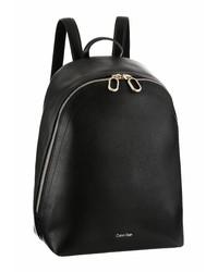 schwarzer Leder Rucksack von Calvin Klein
