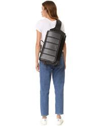schwarzer Leder Rucksack von DKNY