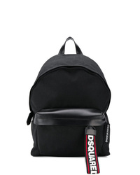 schwarzer Leder Rucksack von DSQUARED2