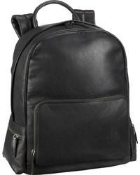 schwarzer Leder Rucksack von Greenburry