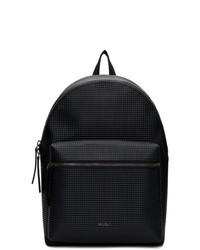 schwarzer Leder Rucksack von Hugo