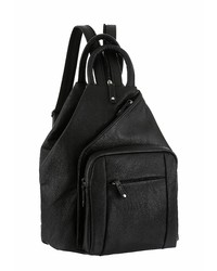 schwarzer Leder Rucksack von J. JAYZ