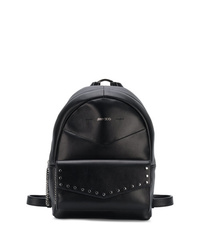 schwarzer Leder Rucksack von Jimmy Choo