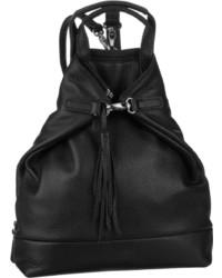 schwarzer Leder Rucksack von Jost
