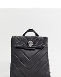 schwarzer Leder Rucksack von Kurt Geiger London