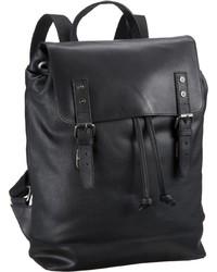 schwarzer Leder Rucksack von Leonhard Heyden