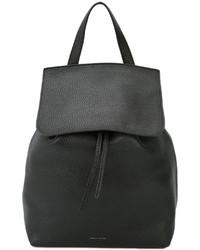 schwarzer Leder Rucksack von Mansur Gavriel