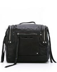 schwarzer Leder Rucksack von McQ by Alexander McQueen