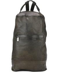 schwarzer Leder Rucksack von Numero 10