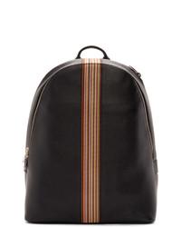 schwarzer Leder Rucksack von Paul Smith
