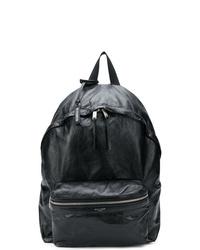 schwarzer Leder Rucksack von Saint Laurent