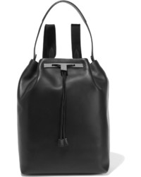 schwarzer Leder Rucksack von The Row
