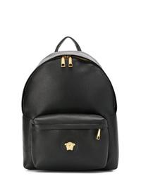 schwarzer Leder Rucksack von Versace