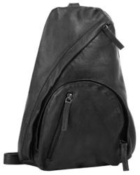 schwarzer Leder Rucksack von WOUWOU