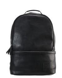 schwarzer Leder Rucksack von YOURTURN