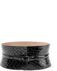 schwarzer Leder Taillengürtel von Alaia