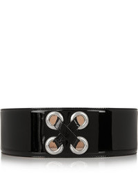schwarzer Leder Taillengürtel von Alexander McQueen