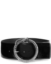 schwarzer Leder Taillengürtel von Saint Laurent