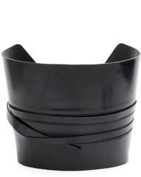 schwarzer Ledergürtel von Ann Demeulemeester