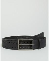 schwarzer Ledergürtel von Asos